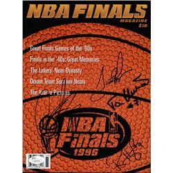 1996 NBA Finals Program Signed by (4) with Scottie Pippen, Ron Harper, Dennis Rodman  Toni Kukoc (JS