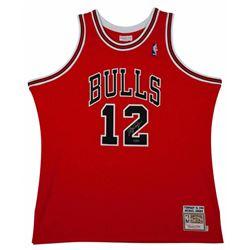 Michael Jordan Signed Mitchell  Ness #12 Authentic Chicago Bulls Jersey (UDA COA)