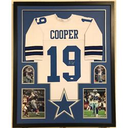 Amari Cooper Signed Dallas Cowboys 34x42 Custom Framed Jersey Display (JSA COA)