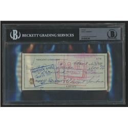 Vince Lombardi Signed Personal Bank Check (BGS Encapsulated)