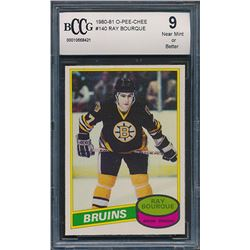 1980-81 O-Pee-Chee #140 Ray Bourque RC (BCCG 9)