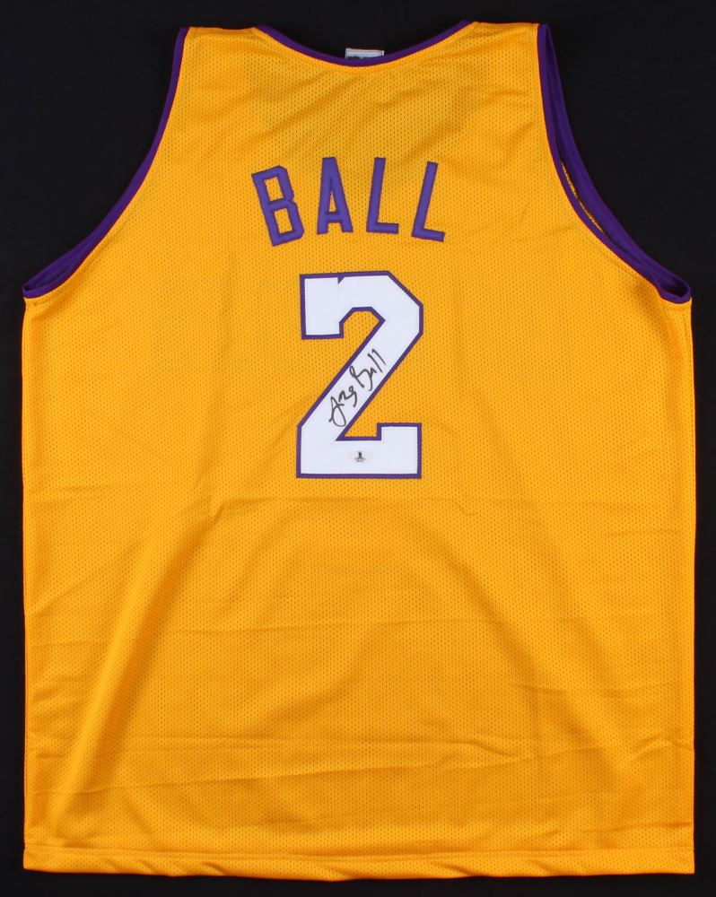 more photos 71853 dd933 Lonzo Ball Signed Los Angeles Lakers Jersey (Beckett COA)