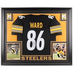 Hines Ward Signed Pittsburgh Steelers 35x43 Custom Framed Jersey (JSA COA)
