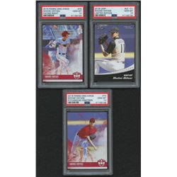 Lot of (3) PSA Graded 10 Shohei Ohtani Baseball Cards with 2018 Leaf Ohtani Limited Edition #LE01, 2