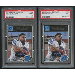 Lot of (2) PSA Graded 9 2016 Donruss #368 Ezekiel Elliott