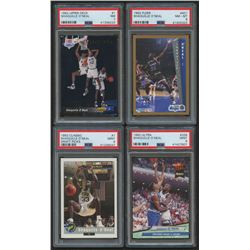 Lot of (4) PSA Graded Shaquille O'Neal Basketball Cards with 1992 Classic #1 (PSA 9), 1992-93 Ultra