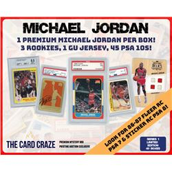 The Card Craze Michael Jordan Premium Basketball Card Mystery Box (1 Hit Per Box)