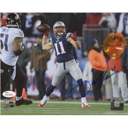 Julian Edelman Signed New England Patriots 8x10 Photo (JSA COA)