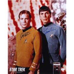 "William Shatner  Leonard Nimoy Signed ""Star Trek"" 16x20 Photo (JSA COA)"