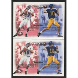 Lot of (2) 2000 SkyBox Dominion #234 Tom Brady RC / Giovanni Carmazzi RC