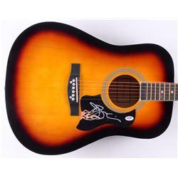 "Joe Satriani Signed 41"" Acoustic Guitar (PSA COA)"