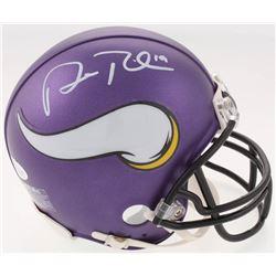 Adam Thielen Signed Minnesota Vikings Mini Helmet (JSA COA)