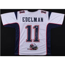 Julian Edelman Signed New England Patriots Jersey with Custom Stitched Photo (JSA COA)