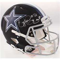 Ezekiel Elliott Signed Dallas Cowboys Full-Size Custom Matte Black Authentic On-Field Speed Helmet (