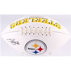 LeVeon Bell Signed Pittsburgh Steelers Logo Football (JSA COA)