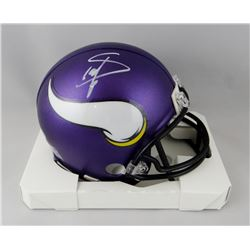 Stefon Diggs Signed Vikings Mini Helmet (Beckett COA)