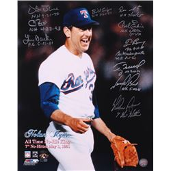 All Time No-Hit King 16x20 Photo Signed by (11) With Nolan Ryan, Vida Blue, Carl Erskine, Terry Mulh