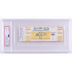 Magic Johnson Signed 1982 NBA Finals Game Unused Ticket (PSA Encapsulated)