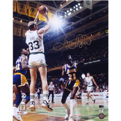Larry Bird Signed Boston Celtics 16x20 Photo (AI Verified COA  Bird Hologram)