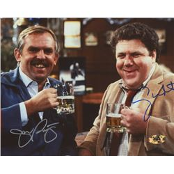 "George Wendt  John Ratzenberger Signed ""Cheers"" 8x10 Photo (MAB Hologram)"