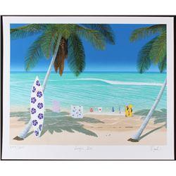 "Dan Mackin - ""Surfer Girl"" Signed Limited Edition 20x24 Fine Art Giclee #/275 (Mackin COA  PA LOA)"