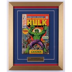 "Vintage 1969 ""The Incredible Hulk"" Issue #2 Marvel 14x17.5 Custom Framed Comic Book"