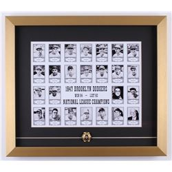1947 Brooklyn Dodgers 17x19.5 Custom Framed Team Photo Display with Replica Ring