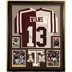 Mike Evans Signed Texas AM Aggies 34x42 Custom Framed Jersey Display (JSA COA)