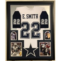 Emmitt Smith Signed Cowboys 34x42 Custom Framed Jersey (Beckett COA  Prova Hologram)