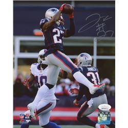 J. C. Jackson Signed New England Patriots 8x10 Photo (JSA COA)