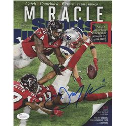 Julian Edelman Signed New England Patriots 8x10 Photo (JSA COA)