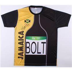 Usain Bolt Signed Rio 2016 Olympics Team Jamaica Jersey (JSA COA)