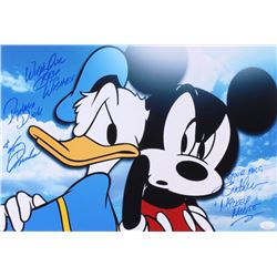 """Tony Anselmo  Bret Iwan Signed 12x18 Photo Inscribed """"With Our Best Wishes, Donald Duck""""  """"Your Pals"""