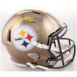 Antonio Brown Signed Pittsburgh Steelers Full-Size Chrome Speed Helmet (JSA COA)