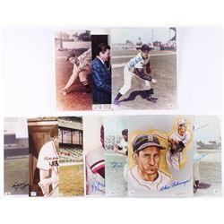 Lot of (10) Baseball Hall of Famers 8x10 Photos with Duke Snider, Brook Robinson, Monte Irvin, Bob F
