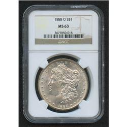 1888-O $1 Morgan Silver Dollar (NGC MS 63)