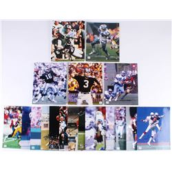 Lot of (20) Sports Hall of Famers 8x10 Photos with Jay Novacek, Dave Casper, Jim Plunkett, Doug Cosb