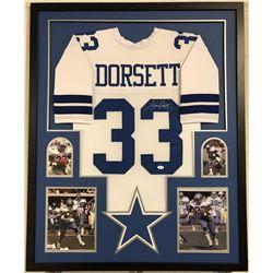 Tony Dorsett Signed Dallas Cowboys 35x43 Custom Framed Jersey (JSA COA)