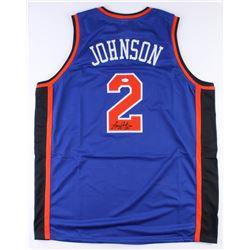 "Larry Johnson Signed New York Knicks ""Grandmama"" Jersey (JSA COA)"