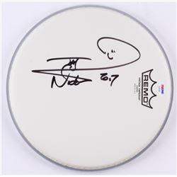 "Nicko McBrain Signed 10.5"" Drum Head Inscribed ""2017"" (PSA COA)"