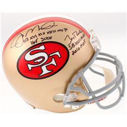 "Joe Montana  Jerry Rice Signed San Francisco 49ers Full-Size Helmet Inscribed ""SB XVI, XIX, XXIV MVP"