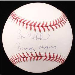 "Brad Marchand Signed OML Baseball Inscribed ""Bruins Nation"" (Marchand COA)"