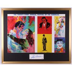 LeRoy Neiman Signed 31x39 Custom Framed Cut Display (PSA COA)