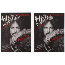 """Lot of (2) Nikki Sixx Signed """"The Heroin Diaries: Ten Year Anniversary Edition"""" Softcover Book (Prem"""