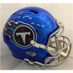 "Corey Davis Signed Tennessee Titans Full-Size Chrome Speed Helmet Inscribed ""Go Get It!"" (JSA COA)"