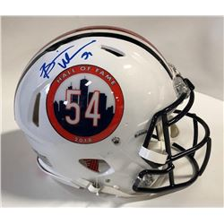 Brian Urlacher Signed Hall of Fame Logo Full-Size Authentic On-Field Helmet (JSA COA)