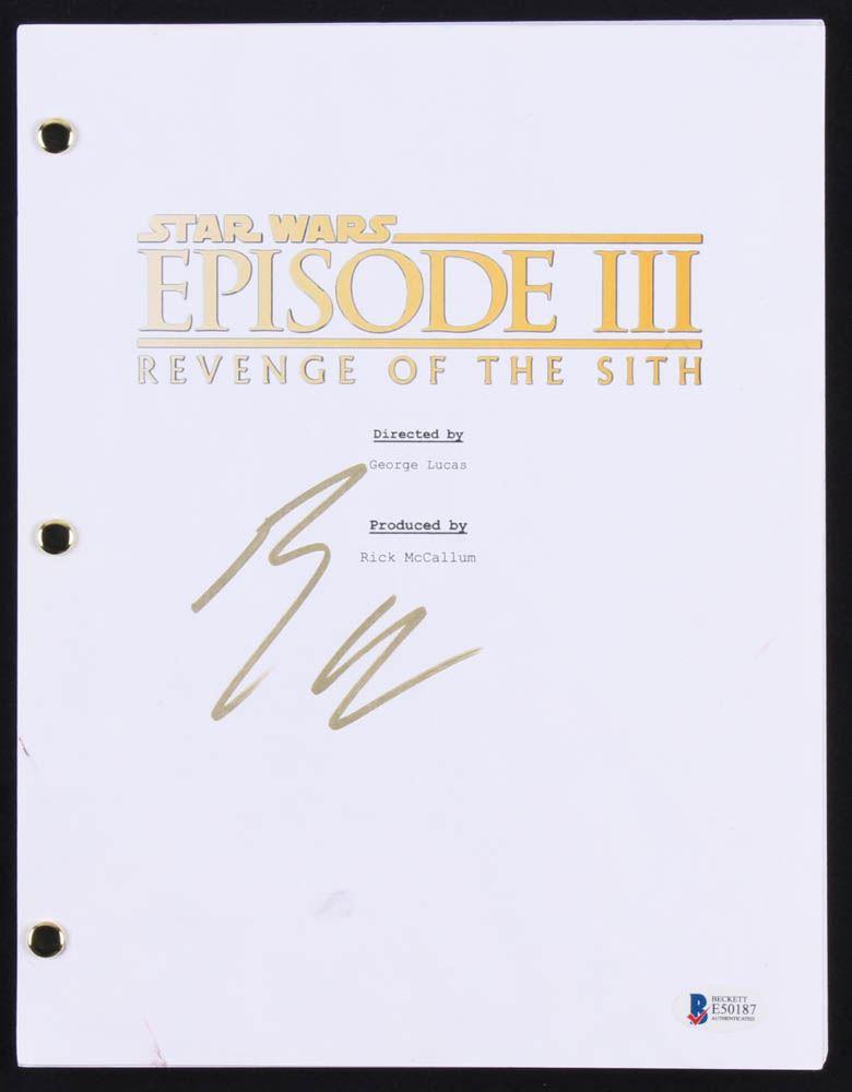Ewan Mcgregor Signed Star Wars Episode Iii Revenge Of The Sith Script Beckett Coa