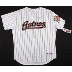 """Roger Clemens Signed Houston Astros Jersey Inscribed """"Rocket""""  """"Cy 7"""" (PSA COA)"""