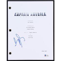 """Sebastian Stan Signed """"Captain America: The First Avenger"""" Movie Script (Beckett COA)"""