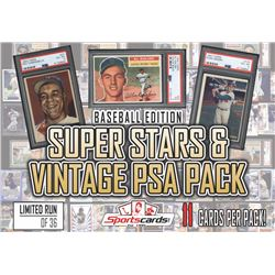 """Superstars  Vintage PSA Baseball Pack"" - Mystery Box - (11) Cards Per Pack!"